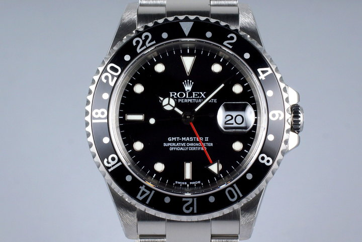 1999 Rolex GMT II 16710 with Box and Papers photo