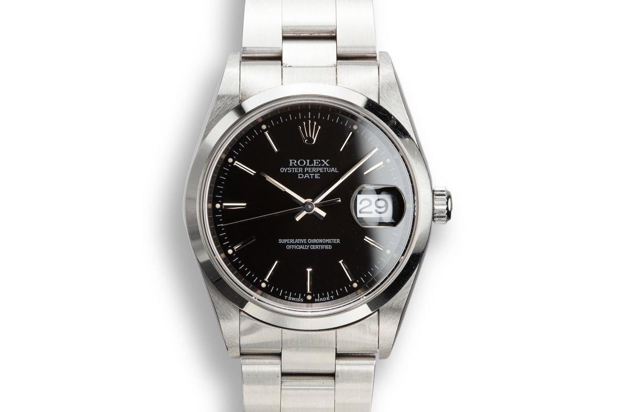 1997 Rolex Date 15200 Black Dial photo, #0