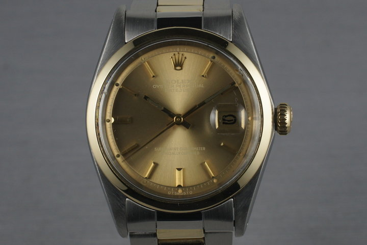 1976 Rolex Two Tone DateJust 1600 with Brown Dial photo