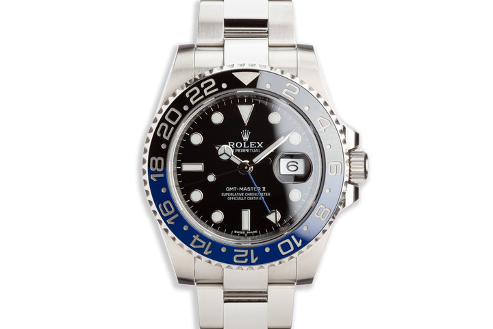 "2017 Rolex GMT-Master II 116710BLNR ""Batman"" with Box and Card photo"