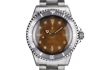 1966 Rolex Submariner 5513 with Tropical Gilt Dial with Service Papers photo