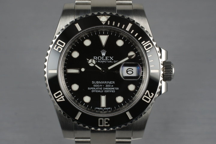 2012 Rolex Submariner 116610 with Box and Papers photo