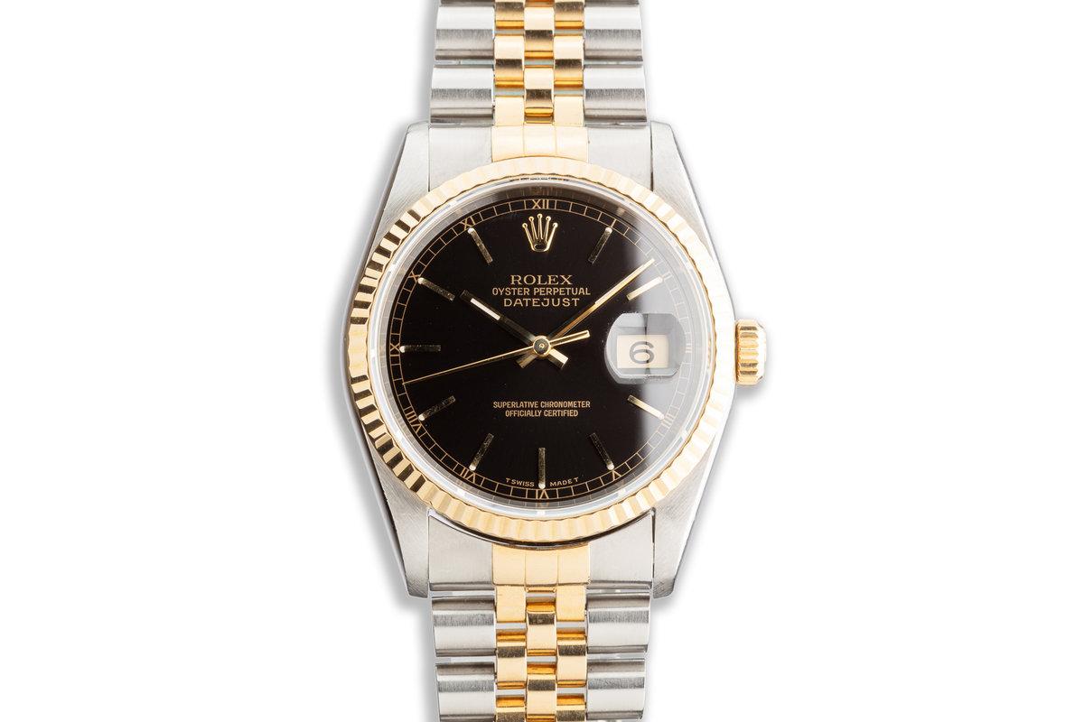 1996 Rolex Two-Tone DateJust 16233 Black Dial photo, #0