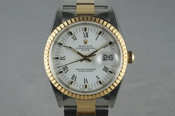 2002 Rolex Roman Numeral Dial Date 15223 photo