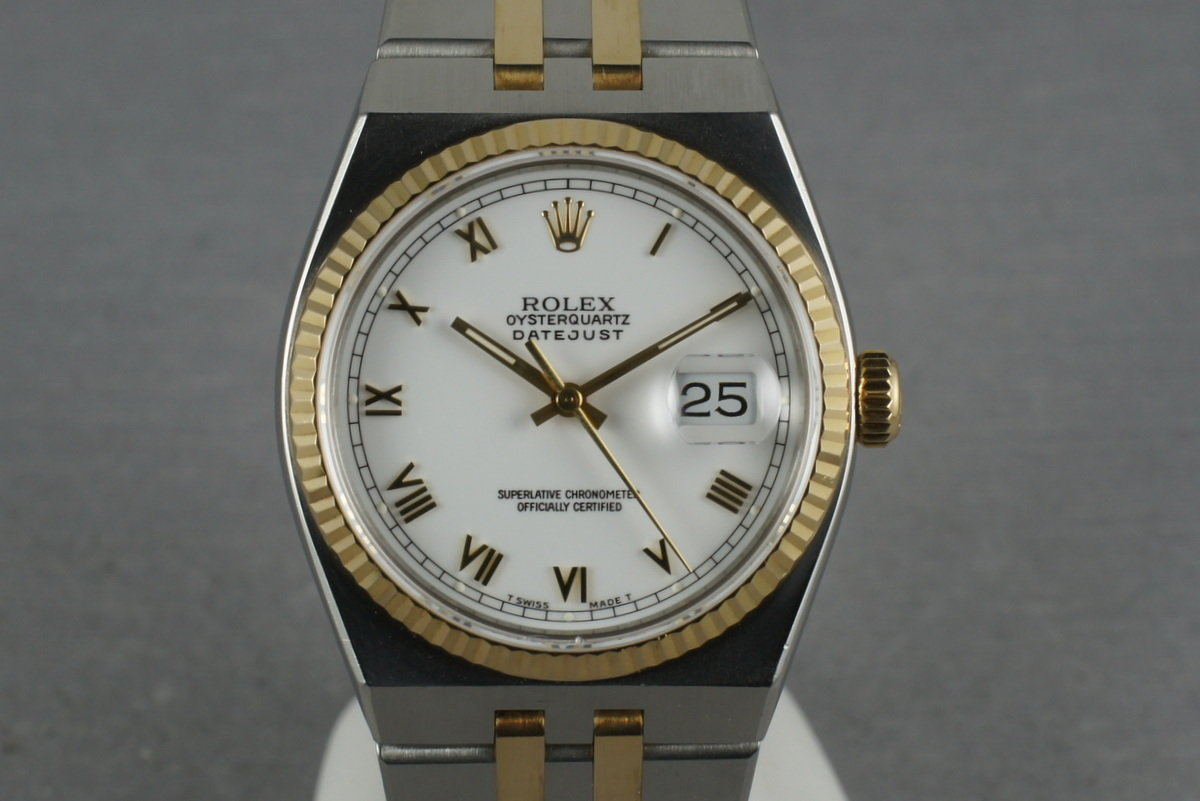 Rolex 2 Tone Oysterquartz 17013 with Box and Papers photo, #0