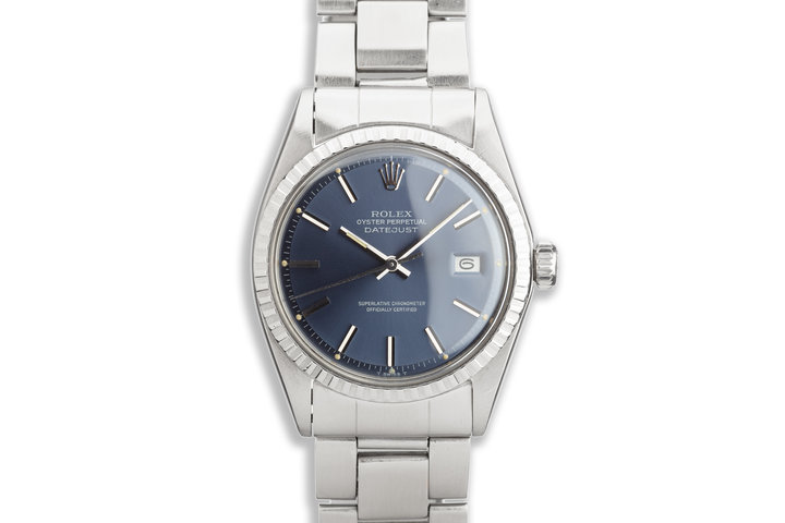 1968 Vintage Rolex DateJust 1601 Blue Dial photo
