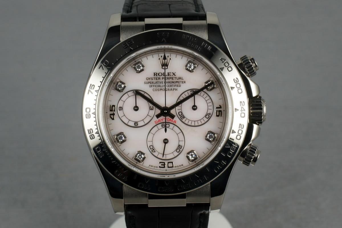 Hq Milton 2002 Rolex Wg Daytona Ref 116519 With Mother