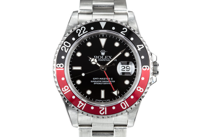 """1991 Rolex GMT-Master II 16710 """"Coke"""" with Box and Papers photo"""