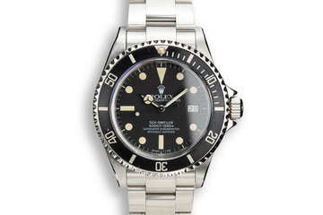 1982 Rolex Sea-Dweller 16660 Matte Dial with Rolex Service Papers photo