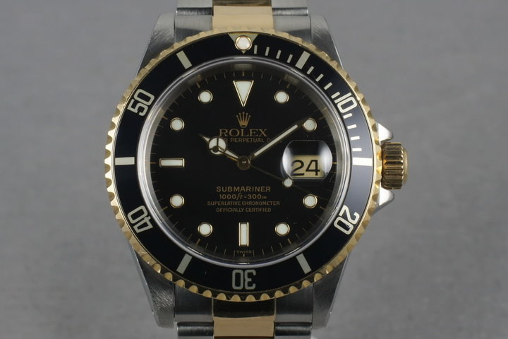 1997 Rolex Submariner 18K/SS Black Dial 16613 photo