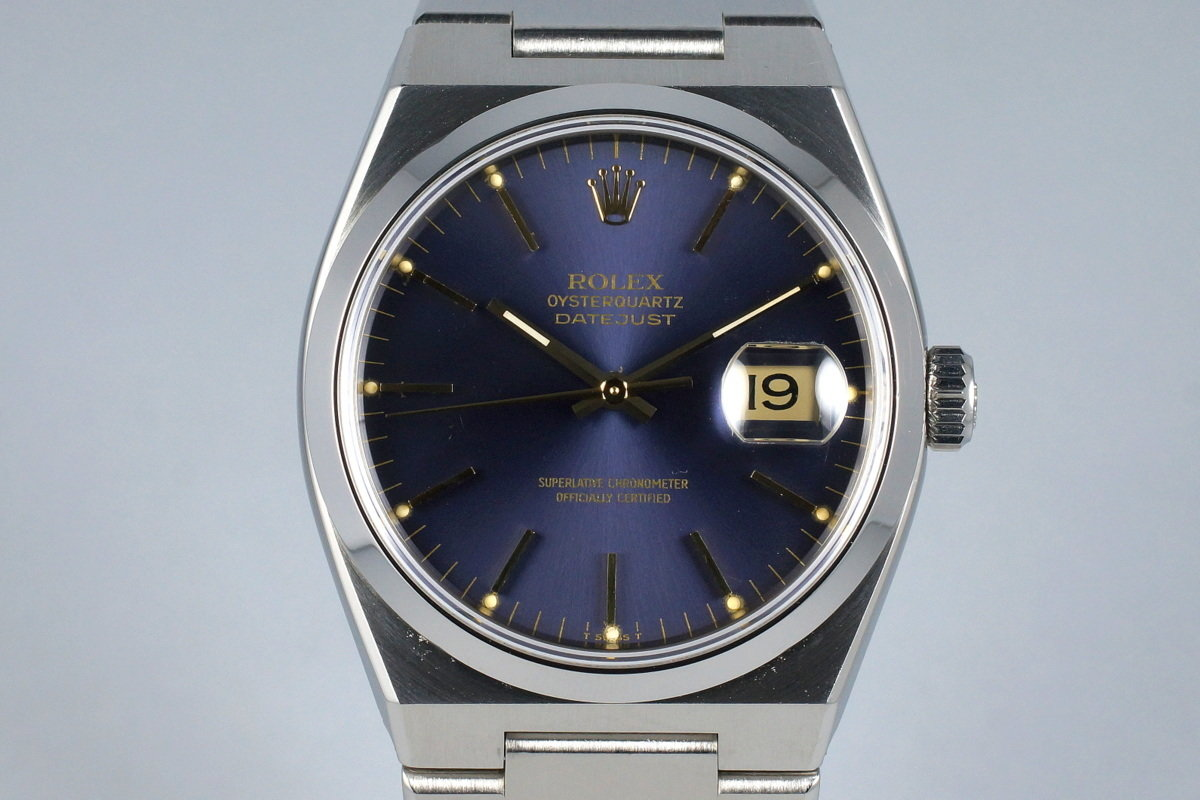 1980 Rolex OysterQuartz Datejust 17000 with Box and Papers photo, #0