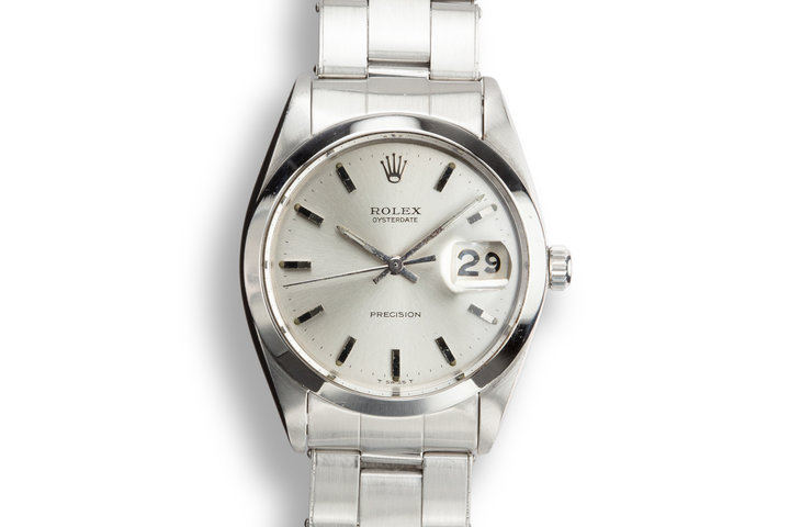 1968 Rolex OysterDate 6694 Silver Dial photo