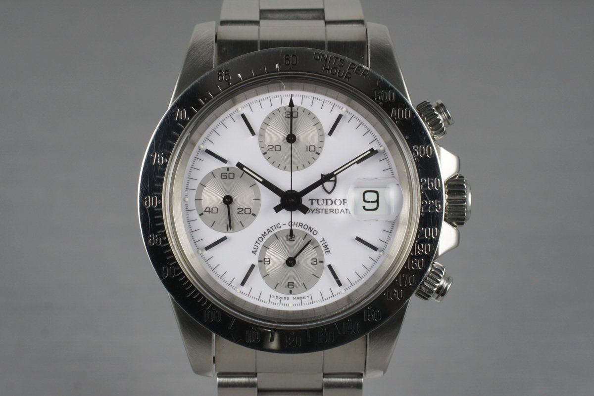 1993 Tudor Chronograph Big Block 79180 White Dial with Box and Papers photo, #0