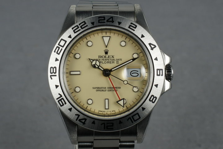 1985 Rolex Explorer II  Ref. 16550 Cream Rail Dial with RSC Papers photo