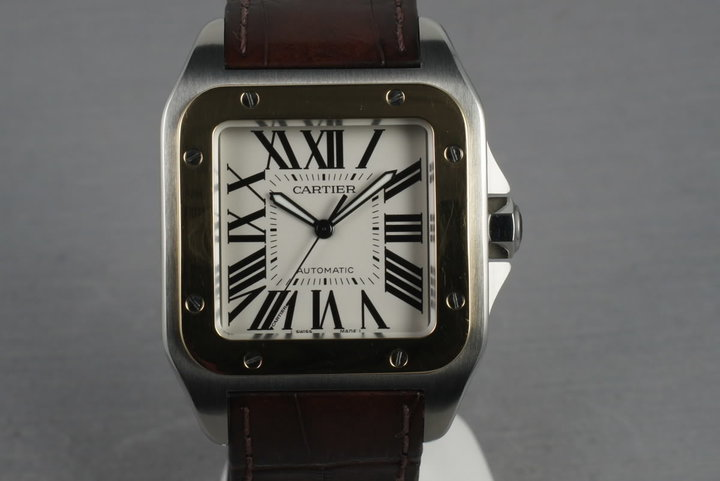 Cartier Santos 100 18K/SS XL photo