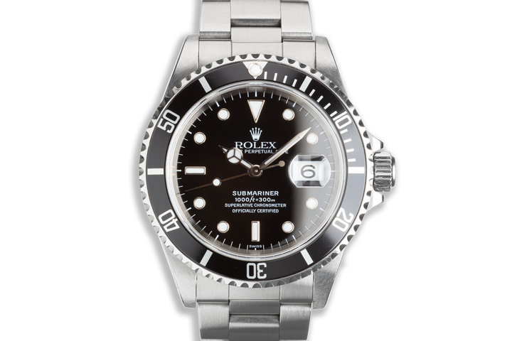 """1999 Rolex Submariner 16610 """"Swiss Only"""" Dial photo"""