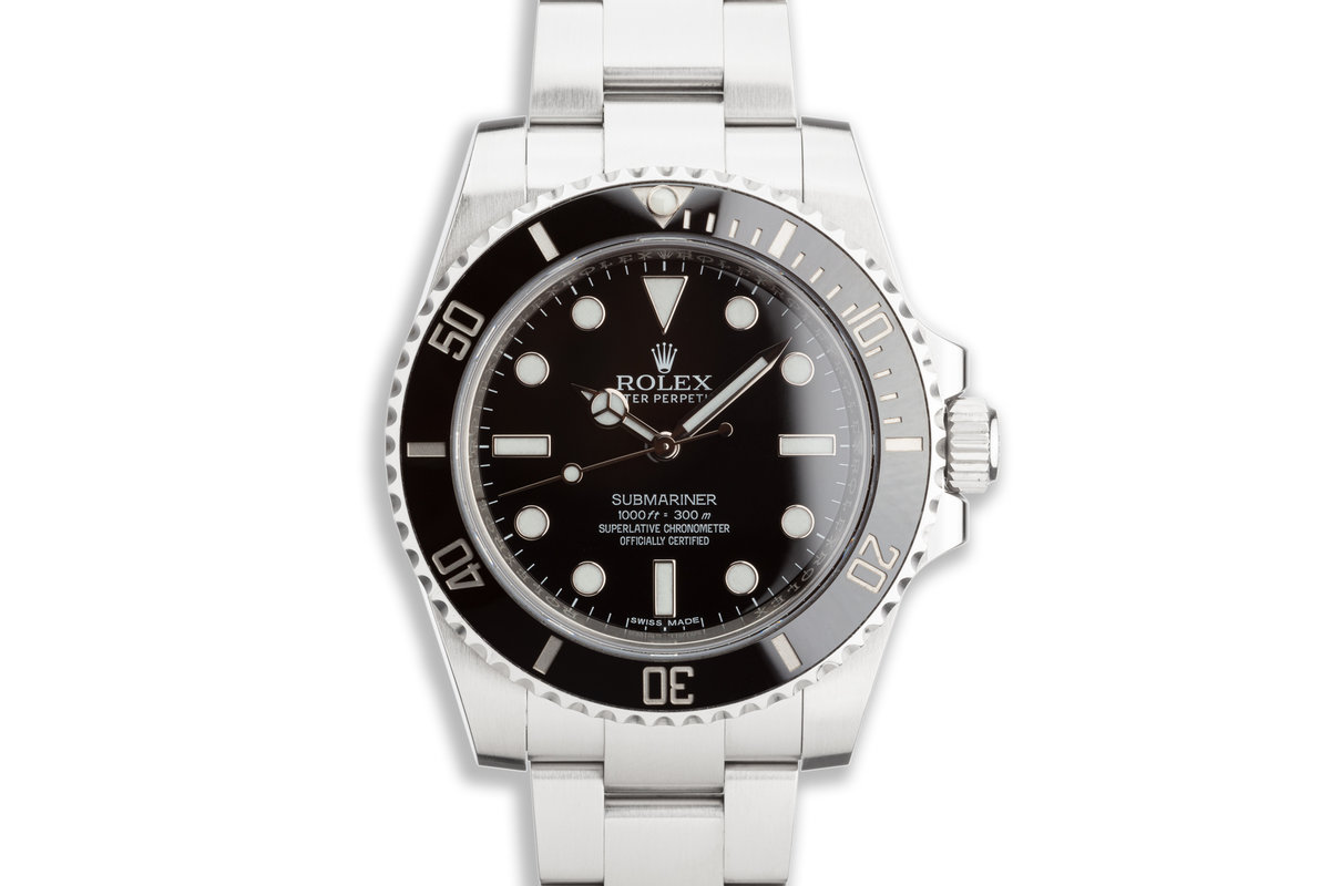 2016 Rolex Submariner 114060 with Box and Card photo, #0