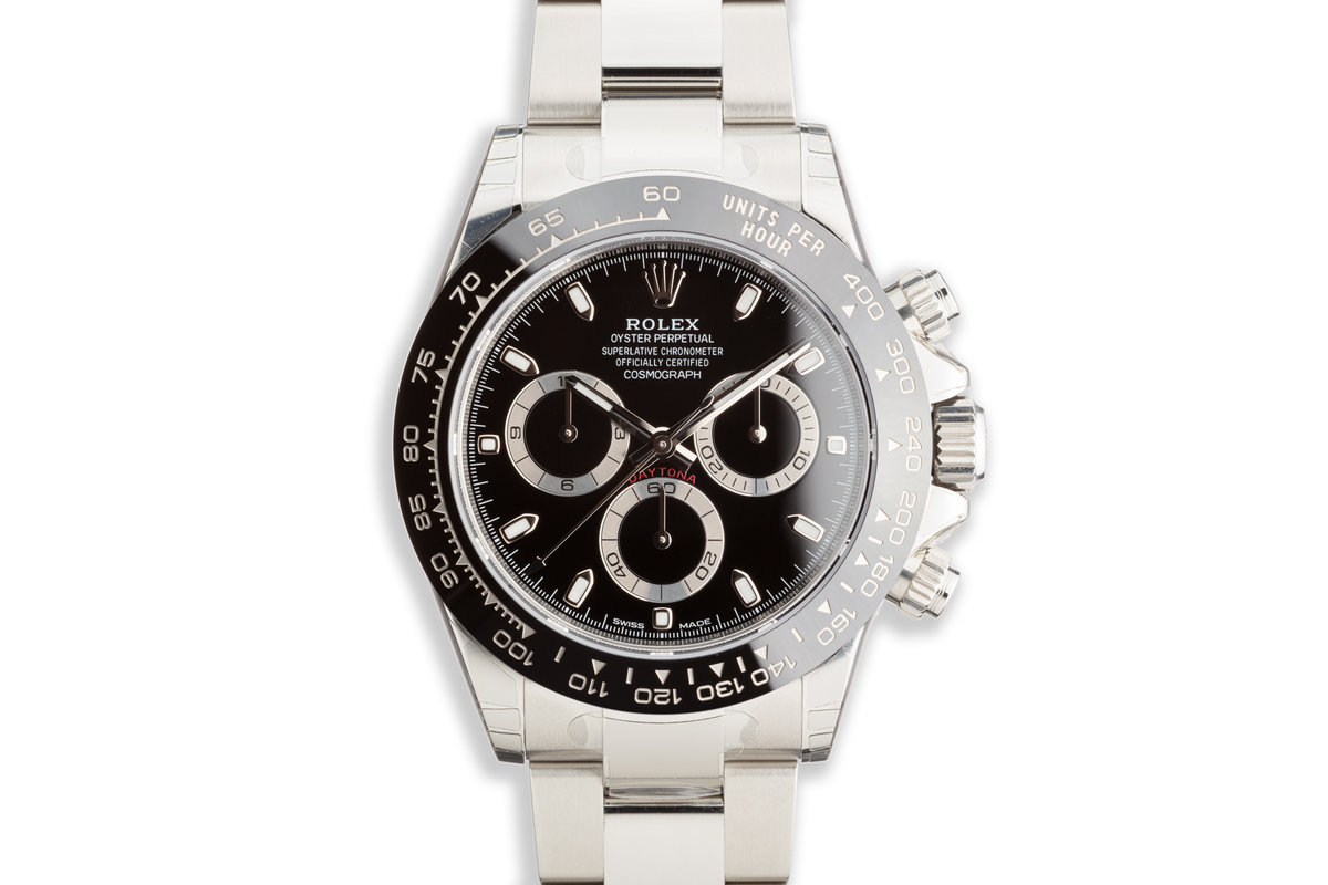 2020 Rolex Daytona 116500LN Black Dial Fully Stickered with Box and Card photo, #0