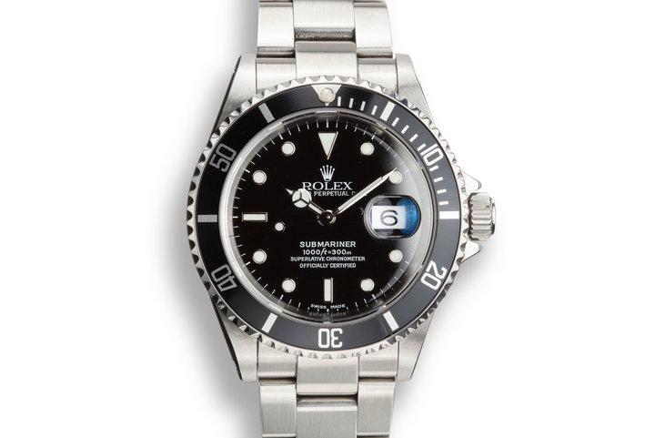 2002 Rolex Submariner 16610 with Service Papers photo