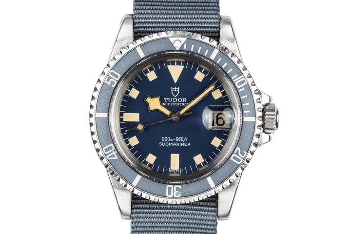 1980 Tudor Snowflake Submariner 94110 Blue photo