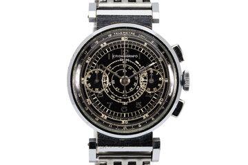 Vintage Cronografo D.H. 2-Register Chronograph with Black Dial photo