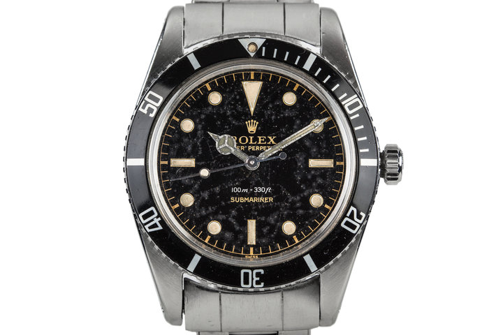 """1958 Rolex Submariner 5508 with SWISS only Meters First Gilt """"Constellation"""" Dial photo"""