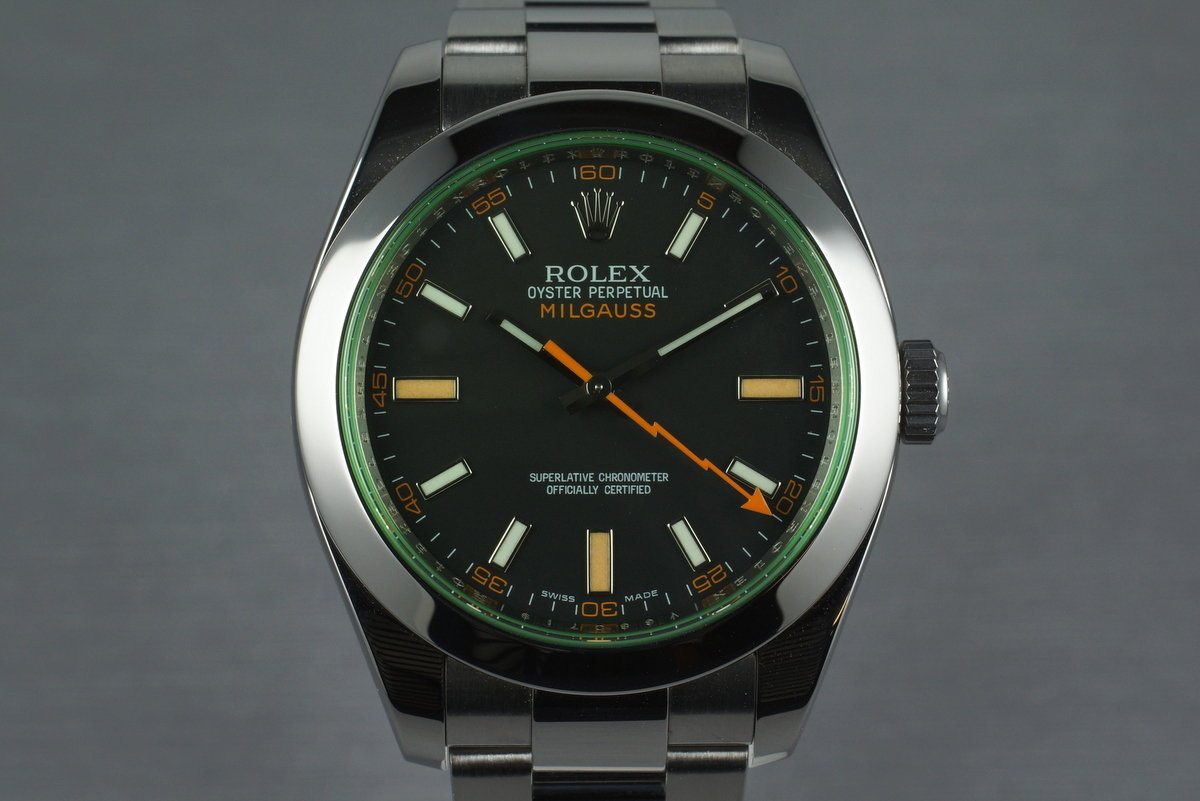 2009 Rolex Milgauss 116400GV with Box and Papers photo, #0