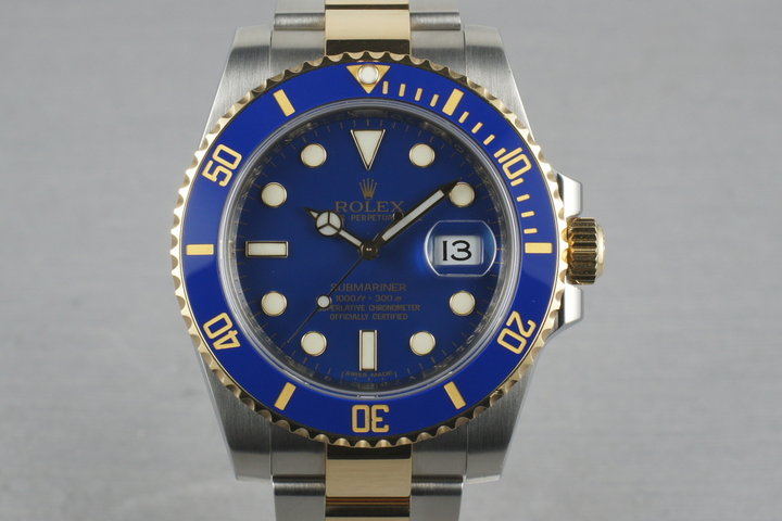 Rolex Submariner 18K/SS 116613 V serial with papers photo