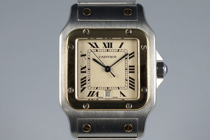 Cartier Quartz Two Tone Santos 187901 photo