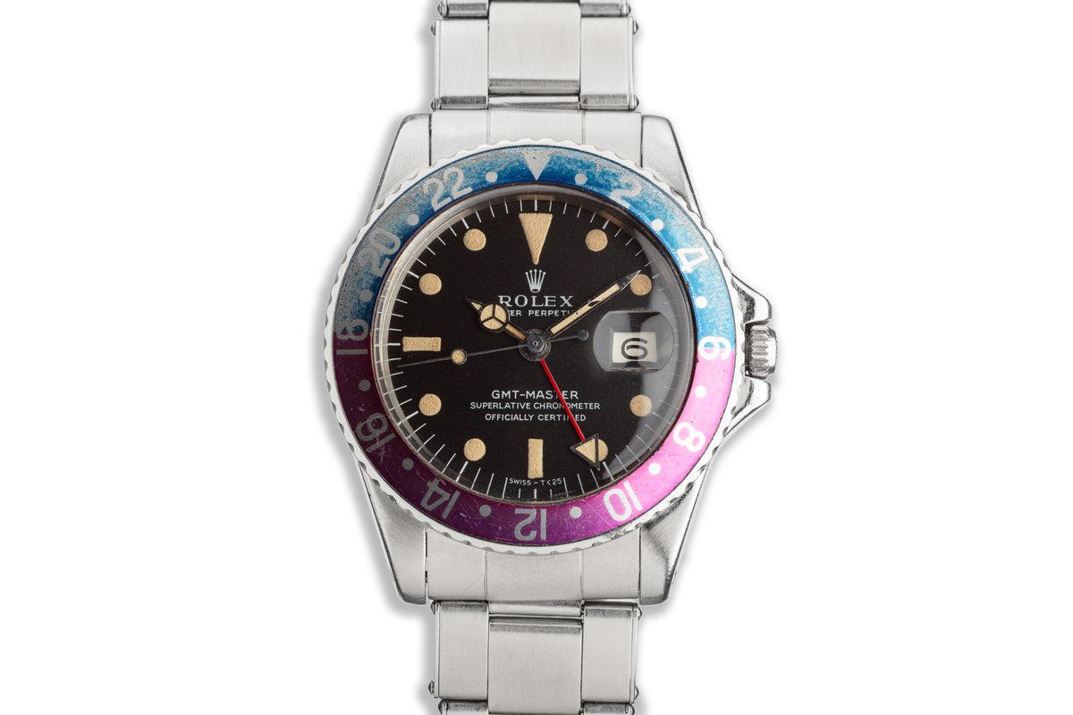 "1968 Vintage Rolex GMT-Master ""Fuchsia"" 1675 Matte Dial photo, #0"