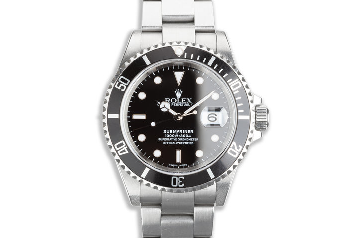 2000 Rolex Submariner 16610 with Hangtag photo