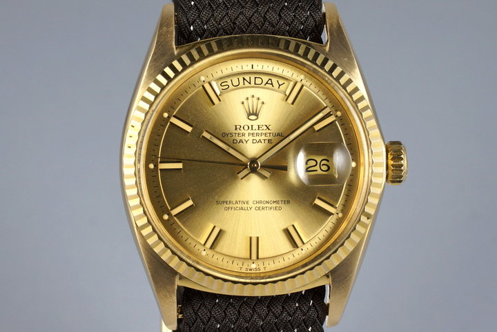 1970 Rolex YG Day-Date 1803 'Wide Boy' Dial photo