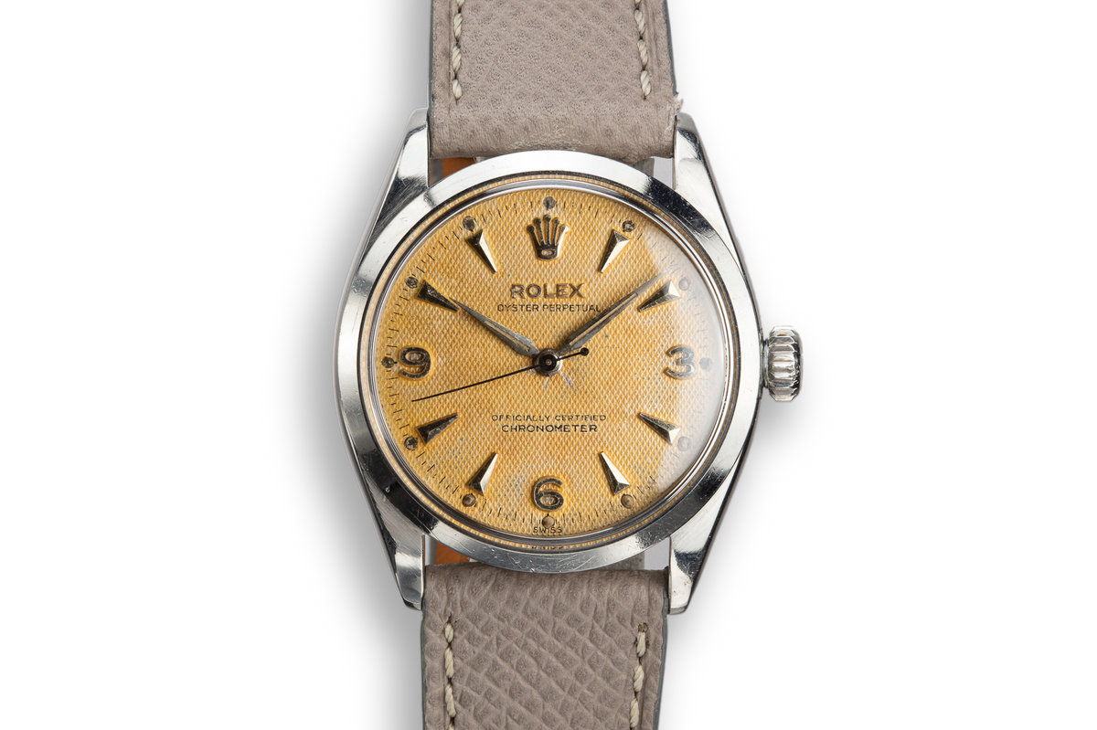 1955 Rolex Oyster Perpetual 6284 Waffle Dial with Service Papers photo, #0