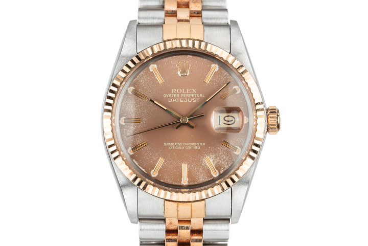 1985 Rolex Two-Tone DateJust 16013 Tropical Brown Dial with Box and Papers photo