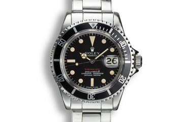 1969 Rolex Submariner 1680 MK I Dial with Service Papers photo