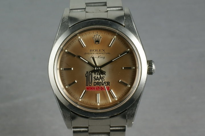 2000 Rolex Air-King 14000 with Winn Dixie safe driver tropical dial photo