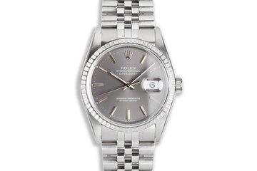 1991 Rolex DateJust 16220 Dark Gray Dial photo