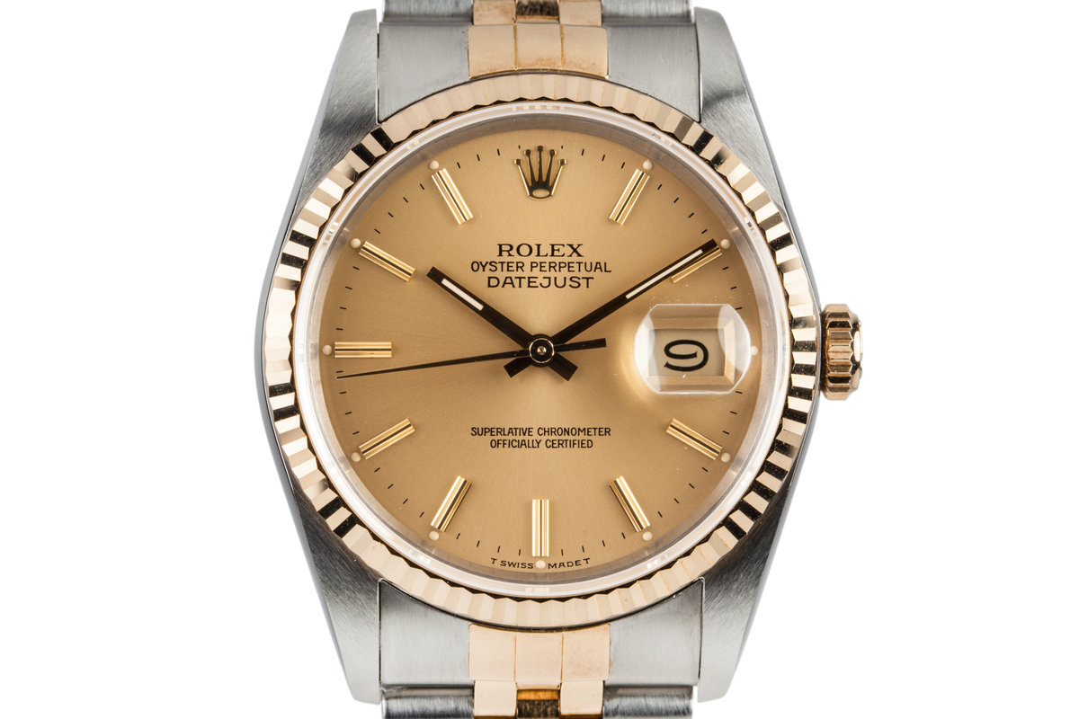 1988 Rolex Two Tone Date-Just 16233 with Box and Papers photo, #0