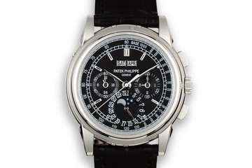 2009 Patek Philippe Platinum Perpetual Calendar Chronograph 5970P-001 With Box and Papers photo