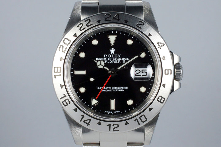 1999 Rolex Explorer II 16570 Black Dial with RSC Papers photo