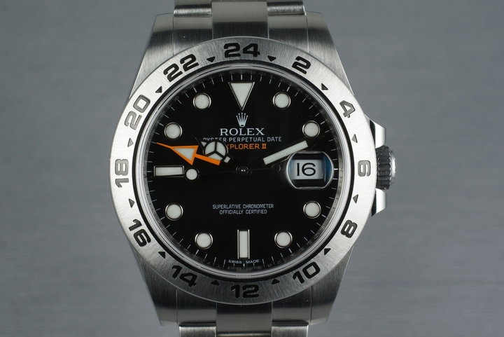 2012 Rolex Explorer II 216570 with and Box and Papers photo