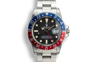 "1982 Rolex GMT-Master 16750 ""Pepsi"" with Hang Tag photo"