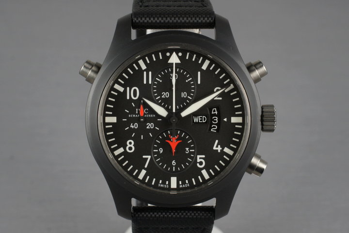 2009 IWC Pilot's Double Chronograph Edition Top Gun IW379901 with Box and Papers photo