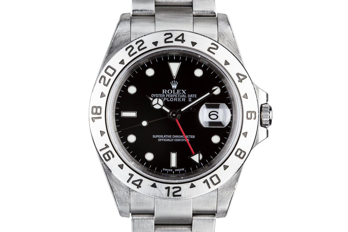 2001 Rolex Explorer II 16570 with Box and Papers photo, #0