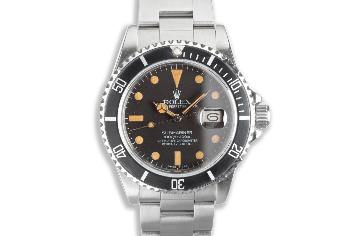 1984 Rolex Submariner 16800 Matte Dial with Box & Service Papers photo, #0