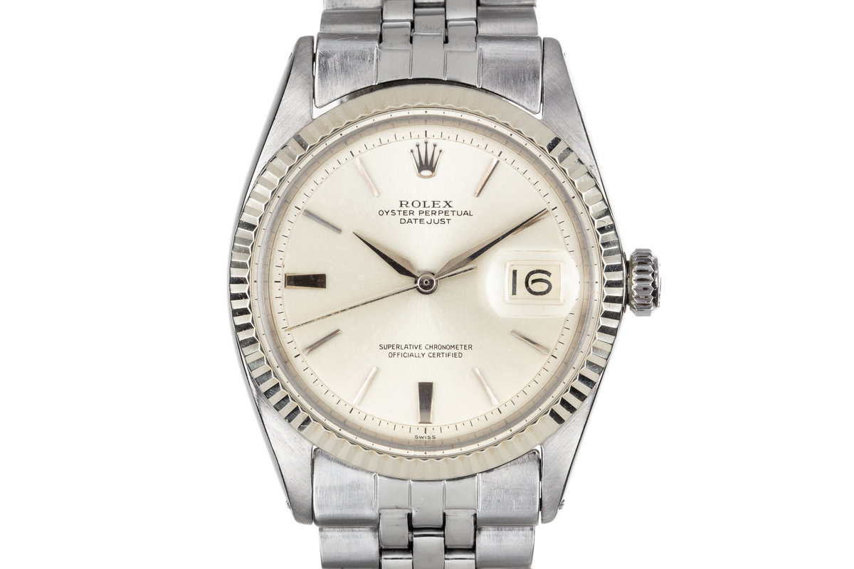 1963 Rolex DateJust 1601 SWISS Only No Lume SIlver Dial photo, #0