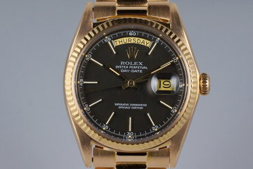 1972 Rolex Rose Gold Day-Date 1803 Black Dial photo