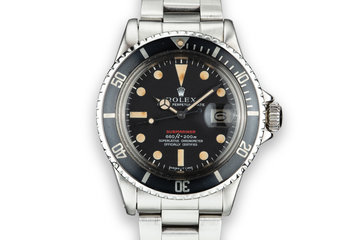 1974 Rolex Red Submariner 1680 with MK IV Dial photo