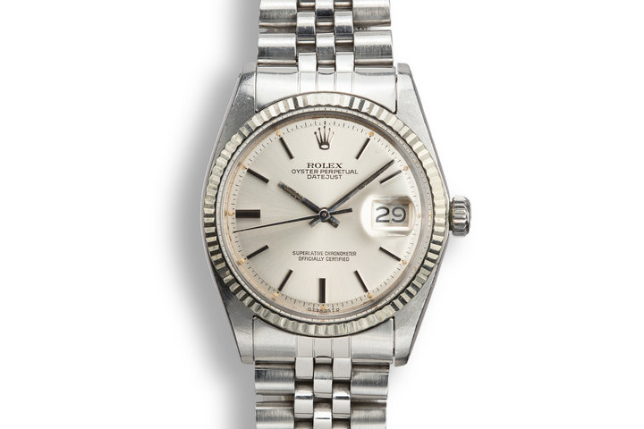 1974 Rolex DateJust 1601 with Silver Sigma Dial photo