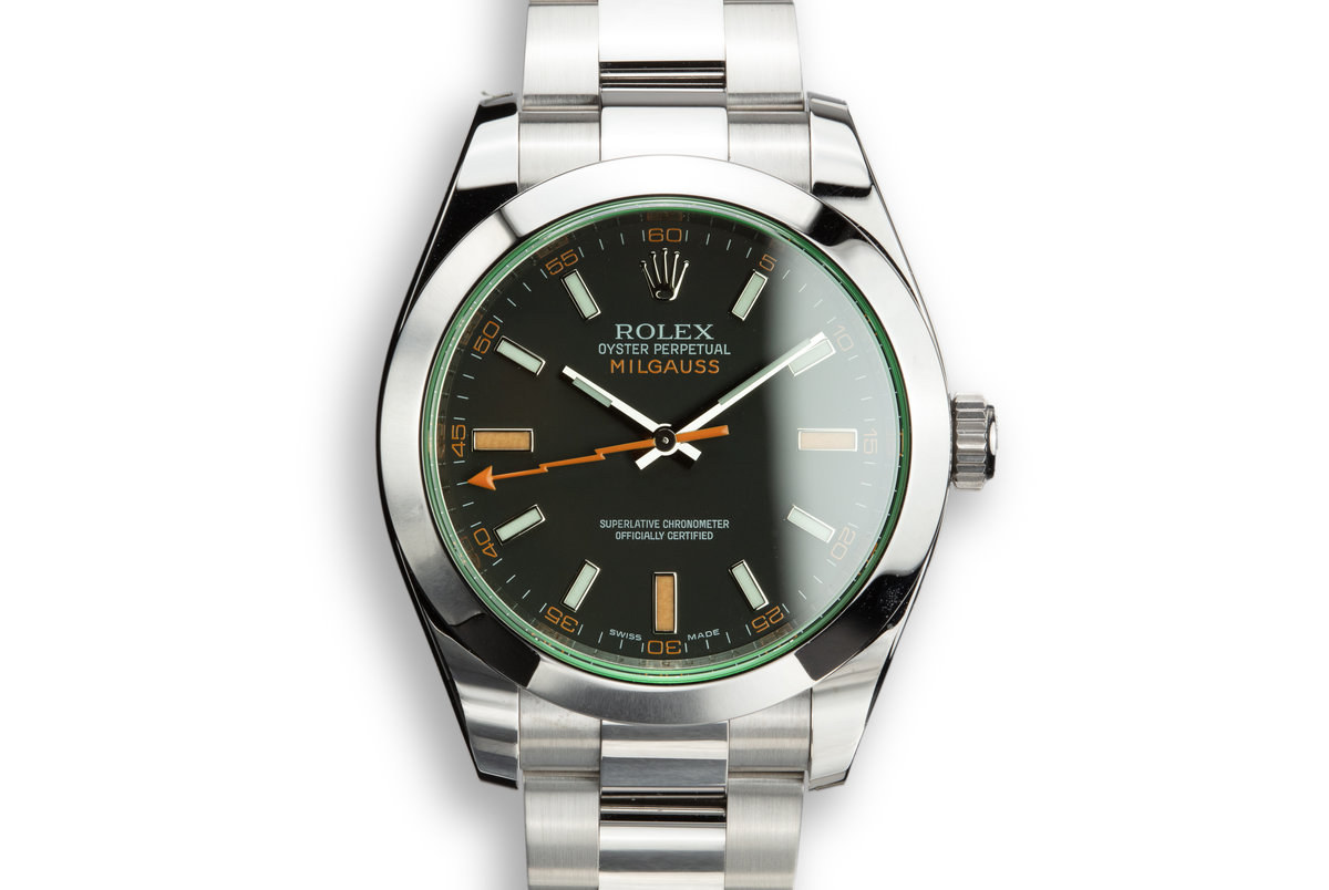 2009 Rolex Milgauss 116400V with Box and Papers photo, #0